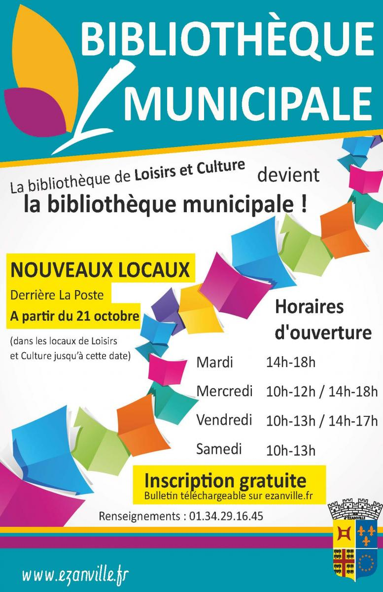 Biblioth que municipale bienvenue sur le site officiel for Piscine ezanville